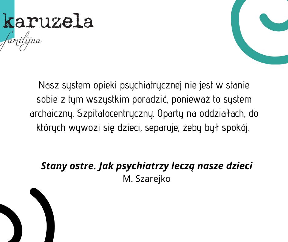 Zapaść w polskich szpitalach psychiatrycznych - książka Marty Szarejko łamie tabu